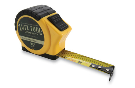 Yellow Lutz Pro 25' Tape Measure